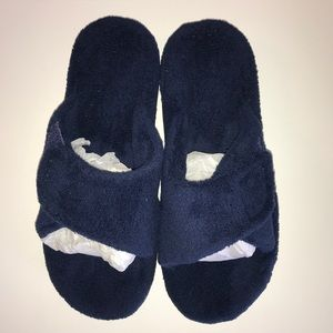 Vionic Adjustable Slippers w/Orthotic Arch Navy 8M